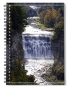 Letchworth State Park Middle Falls With Watercolor Effect Spiral Notebook