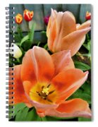 Lets All Dance For The Tulips Are Out Spiral Notebook