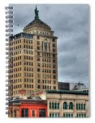 Liberty Building And Hotel Lafayette Spiral Notebook