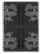 Licorice And Lace Spiral Notebook