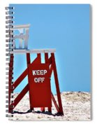 Life Guard Stand Spiral Notebook
