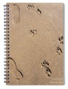 Footprints Mans Best Friend Spiral Notebook