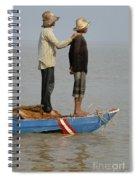 Life On Lake Tonle Sap 4 Spiral Notebook
