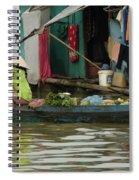 Life On Lake Yonle Sap 9 Spiral Notebook