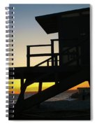 Lifeguard Silhouette Spiral Notebook