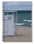 Lifeguard Station At The Beach Spiral Notebook