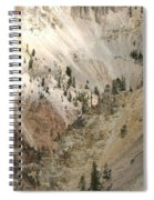 Light And Shadows In The Grand Canyon In Yellowstone Spiral Notebook