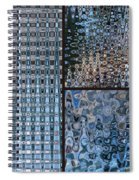 Light Blue And Brown Textural Abstract Spiral Notebook