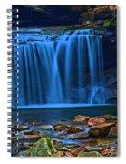 Light Blue Falls Spiral Notebook