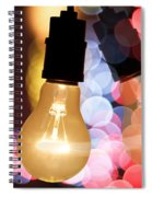 Light Bulb And Bokeh Spiral Notebook