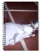 Light Bulb Smashing Spiral Notebook