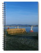 Light House At A Harbor, County Dublin Spiral Notebook