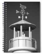 Light House On Coney Island In Black And White  Spiral Notebook