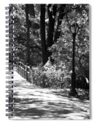 Lighted Bridge In Black And White Spiral Notebook