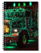 Lighted Green Dumptruck Spiral Notebook