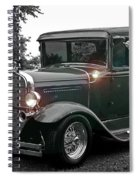 Lighted Old Black And White Spiral Notebook