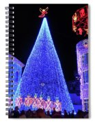 Lighted Xmas Tree Walt Disney World Spiral Notebook