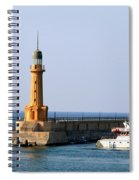 Lighthouse Along The Corniche Spiral Notebook