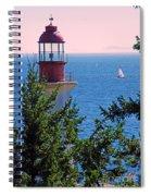 Lighthouse And Sailboats Spiral Notebook
