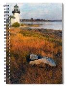 Lighthouse At Dawn Spiral Notebook