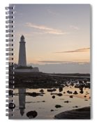 Lighthouse At Low Tide Spiral Notebook