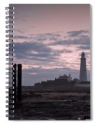 Lighthouse At Low Tide II Spiral Notebook