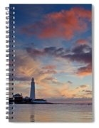 Lighthouse At Sunrise Spiral Notebook