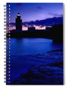 Lighthouse Beacon At Night Spiral Notebook