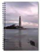 Lighthouse Before Sunrise Spiral Notebook
