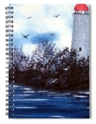 Lighthouse Blues Painterly Style Spiral Notebook