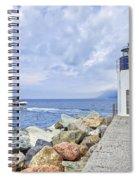 Lighthouse Camogli Spiral Notebook