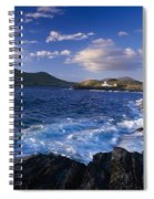 Lighthouse In The Distance, Fort Point Spiral Notebook