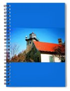 Lighthouse In The Fall Spiral Notebook
