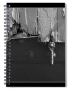 Lighthouse Shutter Black And White Spiral Notebook