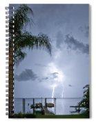 Lighting In The Backyard  Spiral Notebook