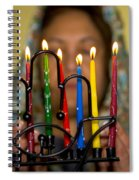 Lighting The Chanukia Spiral Notebook