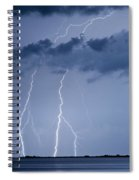Lightning On The Water Spiral Notebook