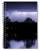 Lightning Over Coot Lake Spiral Notebook
