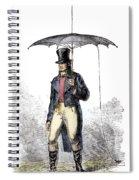 Lightning Rod Umbrella Spiral Notebook