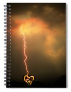 Lightning Strikes The Heart Spiral Notebook
