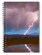 Lightning Striking Longs Peak Foothills 2 Spiral Notebook