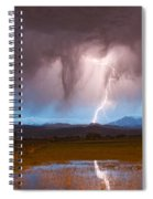 Lightning Striking Longs Peak Foothills 3 Spiral Notebook