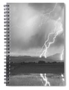 Lightning Striking Longs Peak Foothills 4bw Spiral Notebook