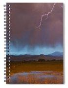 Lightning Striking Longs Peak Foothills 5 Spiral Notebook