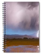 Lightning Striking Longs Peak Foothills 6 Spiral Notebook