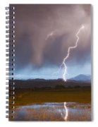 Lightning Striking Longs Peak Foothills Spiral Notebook