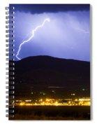 Lightning Striking Over Ibm Boulder Co 1 Spiral Notebook