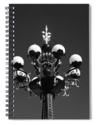 Lights In The Sky In Black And White Spiral Notebook