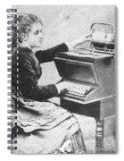 Lillian Sholes, The First Typist, 1872 Spiral Notebook