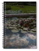 Lillies And Clouds Spiral Notebook